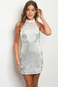 S4-10-2-D75915 WHITE WITH SEQUINS DRESS 2-2-2  ***WARNING: California Proposition 65***