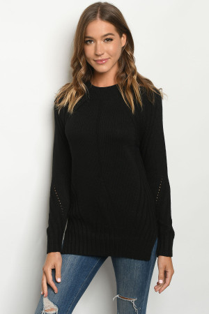 SA3-5-2-S34 BLACK SWEATER 2-2-2