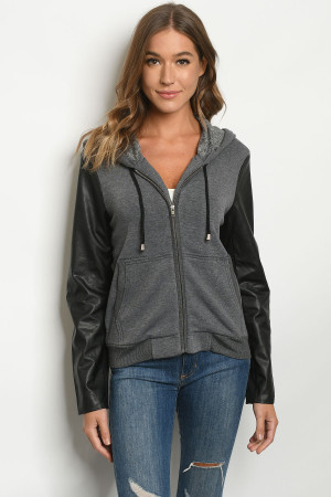 S10-20-3-J1572 CHARCOAL BLACK JACKET 1-3 ***WARNING: California Proposition 65***