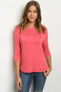 C63-A-1-T8667 CORAL TOP 2-2-2