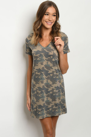 S4-1-1-D20218 BROWN CAMOUFLAGE DRESS 2-2-2