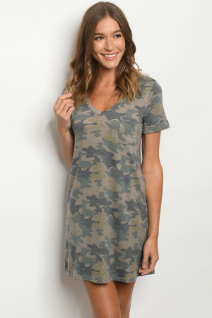 S10-1-1-D20218 OLIVE CAMOUFLAGE DRESS 2-2-2