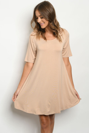S14-10-2-D7179 TAUPE DRESS 3-3