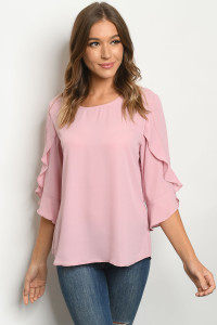 S23-11-3-T1088 DUSTY PINK TOP 2-2-2-2