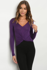 C37-B-1-T4114 PURPLE TOP 2-2-2
