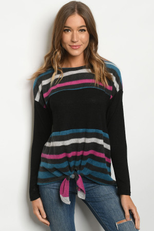 C75-B-1-T2678 BLACK BLUE TOP 2-2-2