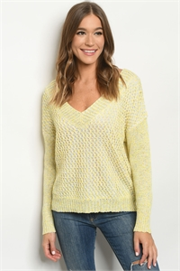 S6-1-2-S1375 YELLOW MULTI SWEATER 3-2-1