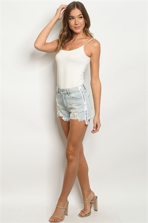 S9-17-2-S0295 LIGHT BLUE DENIM SHORTS / 3PCS
