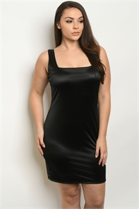 C46-A-1-D3505X BLACK PLUS SIZE DRESS 2-2-2