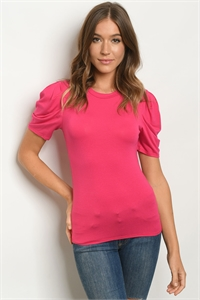 C84-B-1-T0281 FUCHSIA TOP 2-2-2