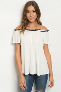 C12-B-1-T7980 OFF WHITE TOP 2-2-2