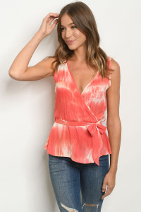 S15-8-1-T2743 CORAL TIE DYE TOP 3-3
