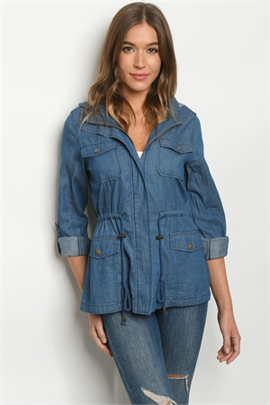 S13-9-1-J8670 MEDIUM DENIM JACKET 2-2-2