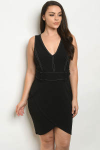 S6-7-2-S6275X BLACK PLUS SIZE DRESS 2-2-2