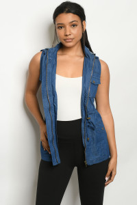 S14-6-1-V8963 MEDIUM DENIM VEST 2-2-2