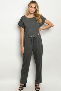 C86-A-2-J2655 CHARCOAL JUMPSUIT 2-2-2