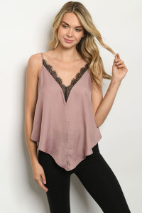 S22-13-2-T14949 MAUVE BLACK TOP 3-2-1