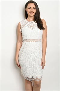 S14-9-2-D58644X OFF WHITE PLUS SIZE DRESS 1-2-2