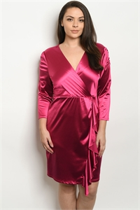 S7-9-2-D59719X MAGENTA PLUS SIZE DRESS 2-2-2