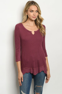 C24-A-1-T20687 WINE SWEATER 1-4-2