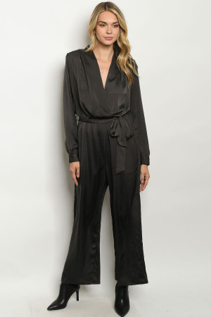 S15-8-1-J21947 CHARCOAL JUMPSUIT / 3PCS