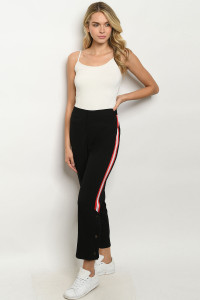 S15-8-1-P21131 BLACK RED PANTS  / 3PCS