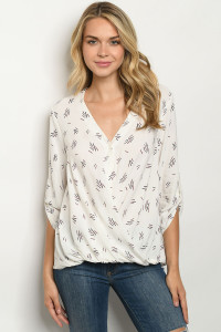 S5-1-1-T14309 OFF WHITE PRINT TOP 3-2-1