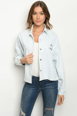 S8-1-1-T13245 LIGHT DENIM WASH JACKET 3-2-1