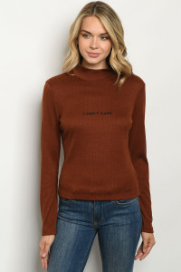 S9-1-3-T13695 BROWN SWEATER 3-2-1