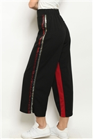 S9-2-2-P21173 BLACK RED WITH SEQUINS PANTS 3-2-1  ***WARNING: California Proposition 65***