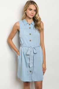 S6-3-2-D035 LIGHT DENIM DRESS 1-1-2-2-1