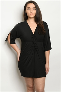 C28-A-1-D8463X BLACK PLUS SIZE DRESS 3-2-3