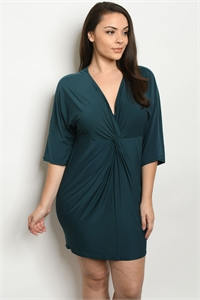 C28-A-1-D8463X TEAL PLUS SIZE DRESS 2-3-3