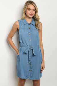 S22-13-1-D035 DARK DENIM DRESS 2-3-3