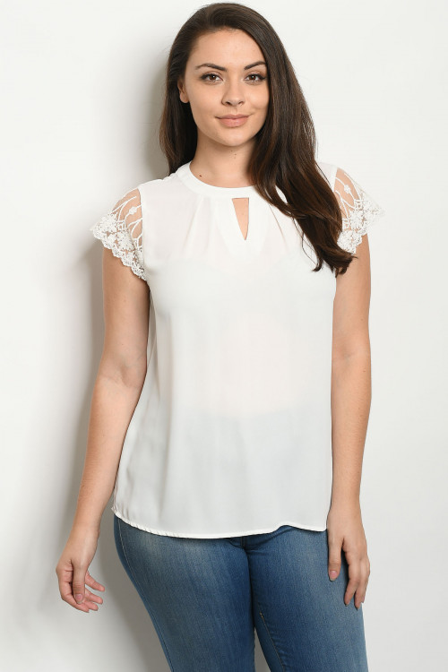 S5-1-3-T81226X WHITE PLUS SIZE TOP 2-2-2