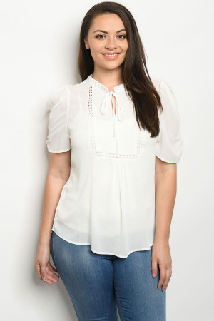 S14-9-2-T81247X WHITE PLUS SIZE TOP 2-2-2