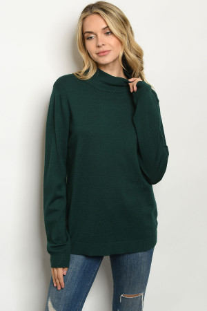 S6-7-3-T1305X GREEN PLUS SIZE SWEATER 2-2-2