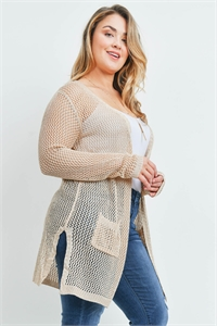 S19-7-1-C1127X NATURAL PLUS SIZE SWEATER 2-4