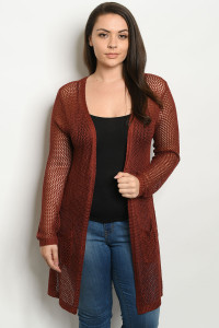 SA4-5-1-C1127X MAROON PLUS SIZE SWEATER 3-3