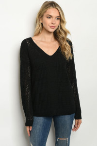 S22-13-2-S1176 BLACK SWEATER / 3PCS