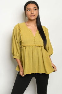 S9-2-3-T029 YELLOW GREEN TOP 2-2-2