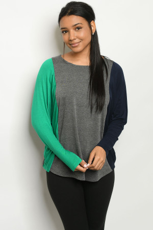 S19-12-2-T905 CHARCOAL GREEN SWEATER 2-2-2