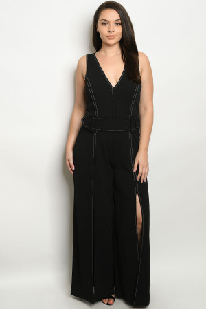 S11-14-1-J1475X BLACK PLUS SIZE JUMPSUIT 2-2-2