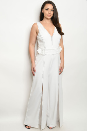 S11-14-1-J1475X OFF WHITE PLUS SIZE JUMPSUIT 2-2-2