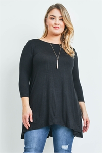 S14-1-1-T6120X BLACK PLUS SIZE TOP 2-2-2