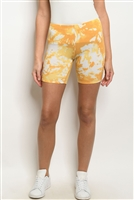 S6-1-3-S10196 YELLOW TIE DYE SHORTS 3-2-1