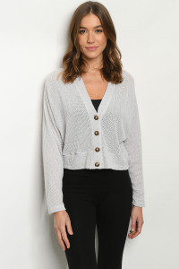 C62-B-1-T7940 LIGHT GRAY SWEATER 2-2-2