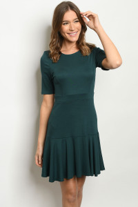 C70-A-2-D6895 HUNTER GREEN DRESS 2-2-2