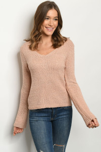 S9-3-2-T5016 MAUVE SWEATER 4-1-1