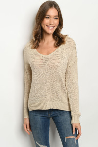 S11-4-2-T3145 CREAM SWEATER 2-2-2